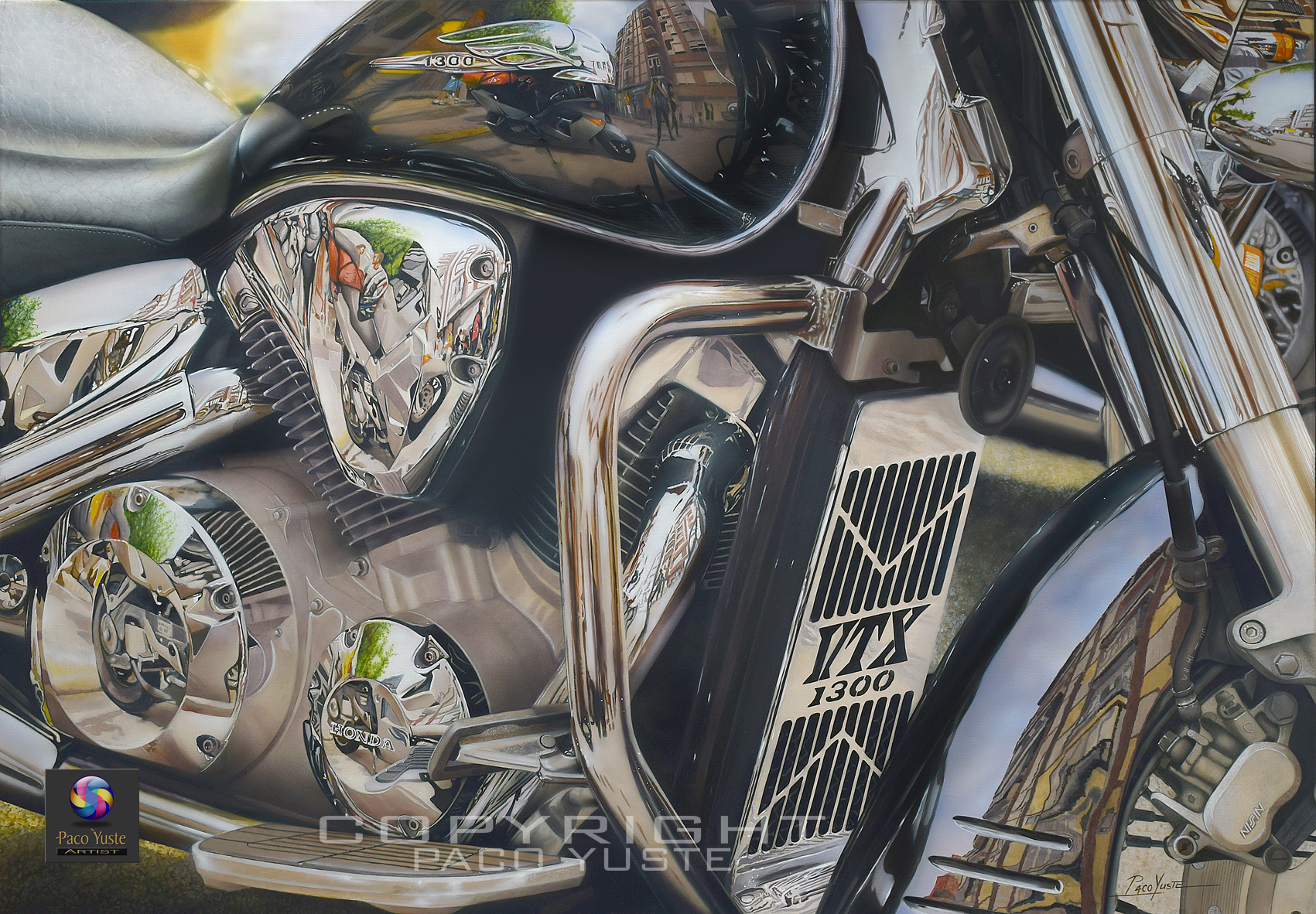 Cromados Honda 1300 VTX - Óleo sobre lino